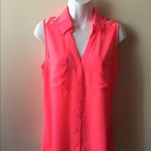 ❤️Express hot pink portofino blouse.Sz M ❤️